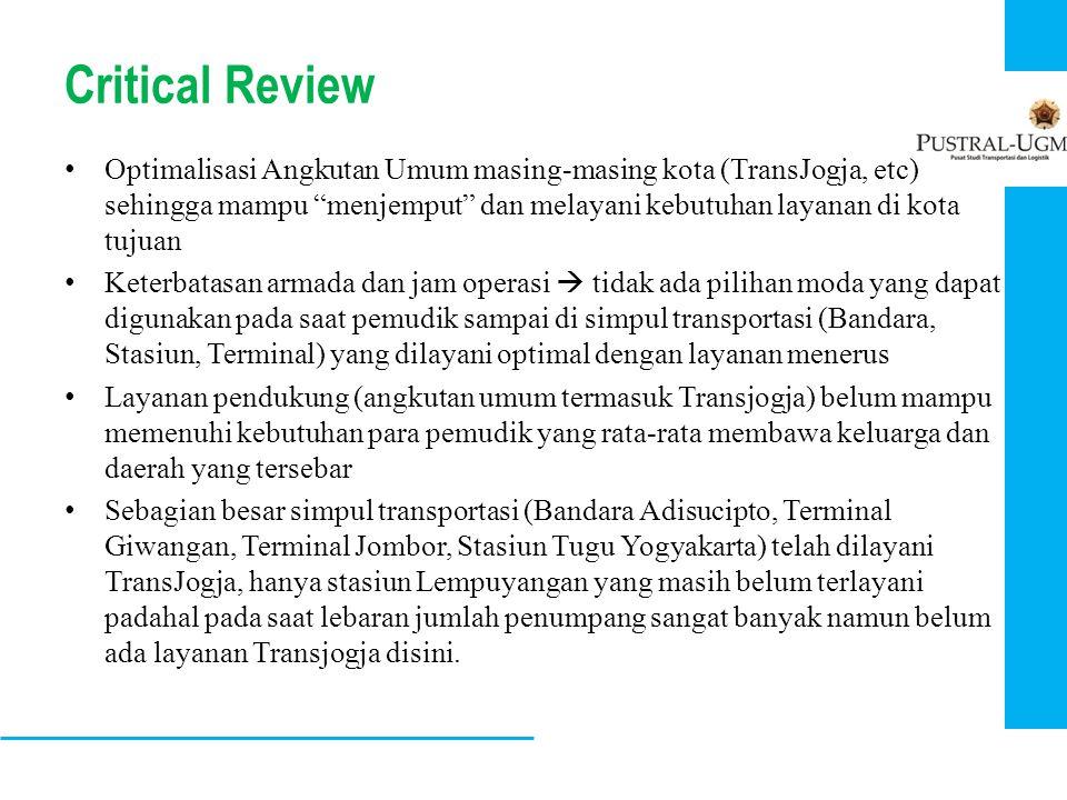 """Critical Review • Optimalisasi Angkutan Umum masing-masing kota (TransJogja, etc) sehingga mampu """"menjemput"""" dan melayani kebutuhan layanan di kota tu"""