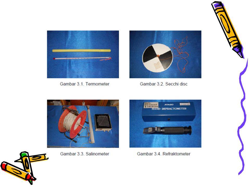 pH Air •Asam (0 - 7) < Netral (7) < Basa (7 - 14) •Diukur dengan pH meter dan kertas lakmus •pH asam (4,5 – 6,5) dapat diperbaiki dengan penambahan kapur •Pagi : CO2 tinggi --- pH rendah •Sore : CO2 rendah --- pH tinggi •Penyanggah (buffer) pH di perairan adalah Calsium dalam bentuk Ca(HCO3)2