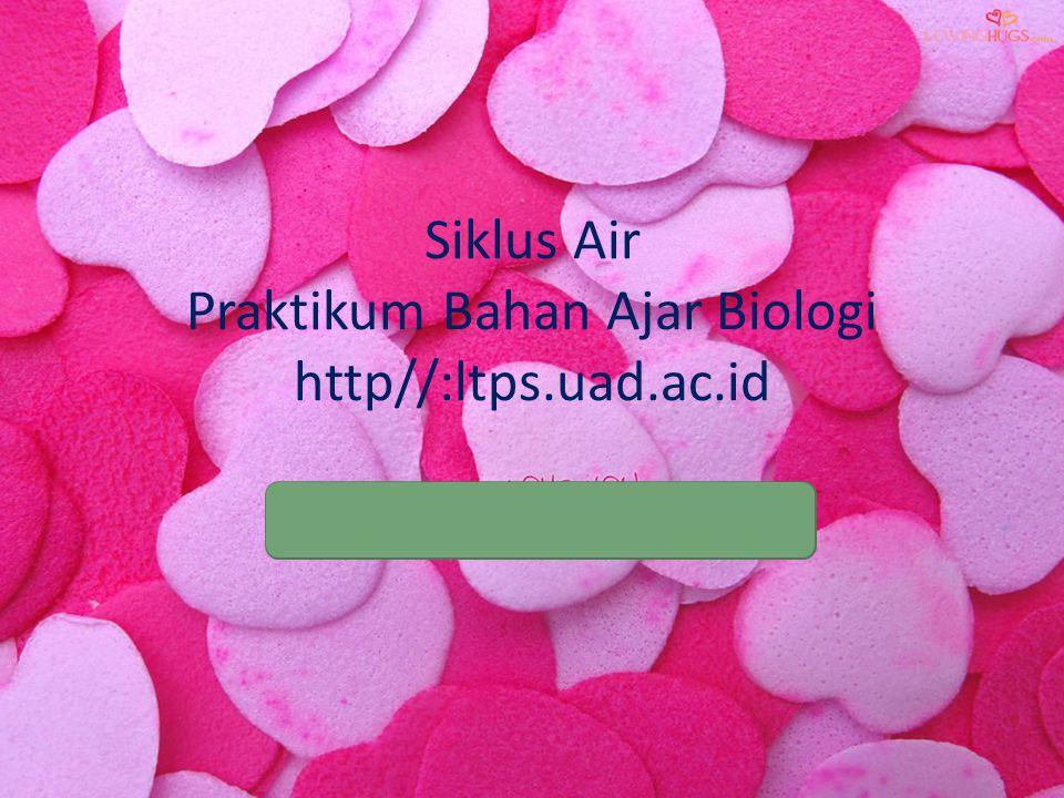 Siklus Air Praktikum Bahan Ajar Biologi http//:ltps.uad.ac.id