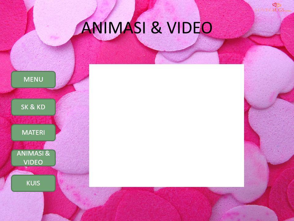 MENU SK & KD MATERI ANIMASI & VIDEO KUIS ANIMASI & VIDEO