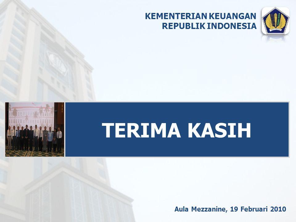 Aula Mezzanine, 19 Februari 2010 TERIMA KASIH KEMENTERIAN KEUANGAN REPUBLIK INDONESIA