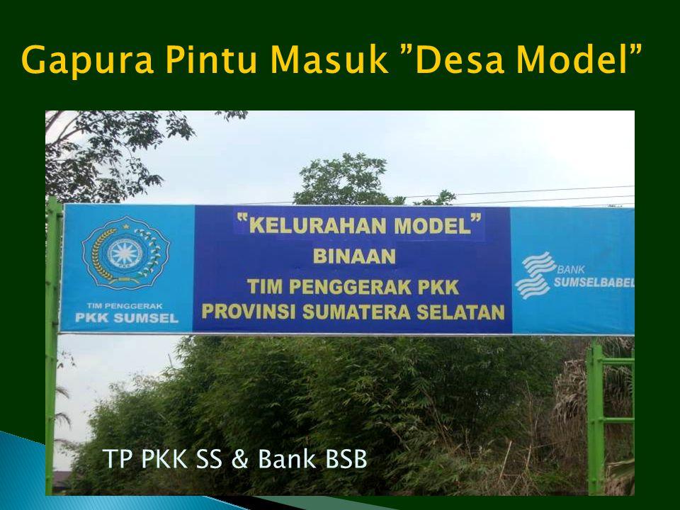 """Gapura Pintu Masuk """"Desa Model"""" TP PKK SS & Bank BSB"""