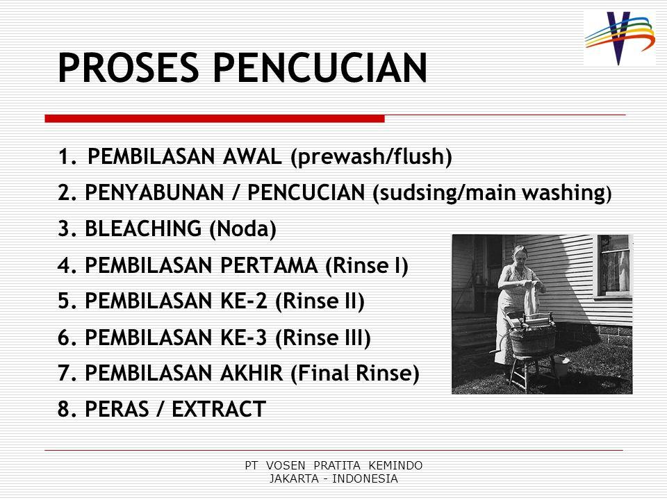 PT VOSEN PRATITA KEMINDO JAKARTA - INDONESIA PROSES PENCUCIAN 1.
