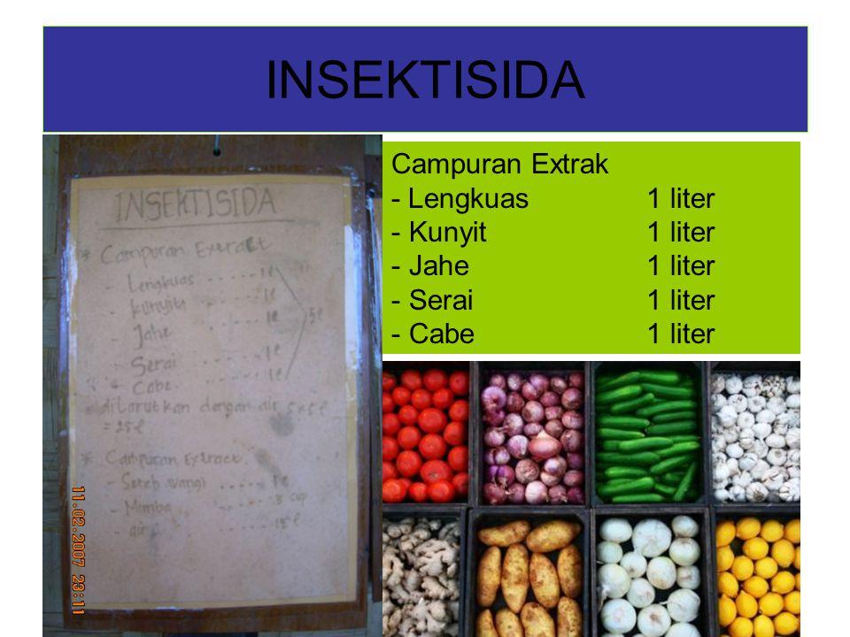 INSEKTISIDA Campuran Extrak - Lengkuas 1 liter - Kunyit1 liter - Jahe1 liter - Serai1 liter - Cabe1 liter