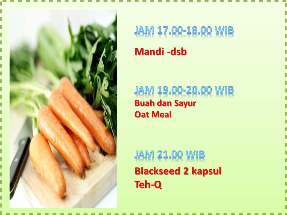 Mandi -dsb Buah dan Sayur Oat Meal Blackseed 2 kapsul Teh-Q