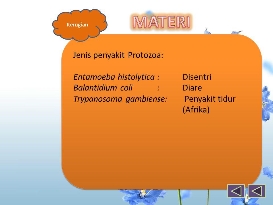 KUIS 5.Protozoa yang menyebabkan penyakit anemia adalah ….