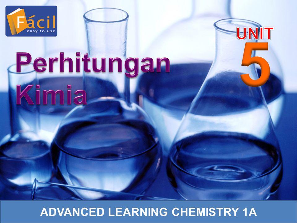 Kerjakan Quick Review Unit 5 halaman 147, buku Advanced Learning Chemistry 1A n O 2 = Koefisien O 2 Koefisien SO 2 × Mol SO 2 = 1 2 × 0,2 mol = 0,1 mol V O 2 = n O 2 × 22,4 L = 0,1 mol × 22,4 L = 2,24 L Pelajarilah Example 5.10–5.18 halaman 141–146