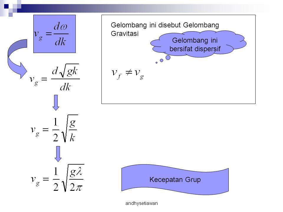 Kecepatan Grup Gelombang ini disebut Gelombang Gravitasi Gelombang ini bersifat dispersif andhysetiawan