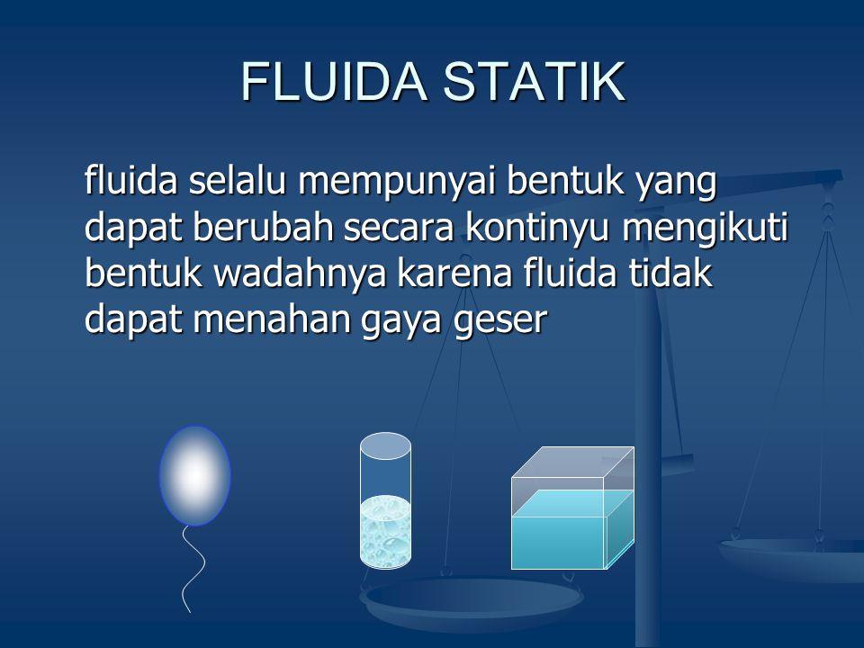 Tujuan Instruksional  Menentukan besaran-besaran yang terkait dengan fluida diam dan fluida bergerak menggunakan formulasi sederhana yang sudah diken
