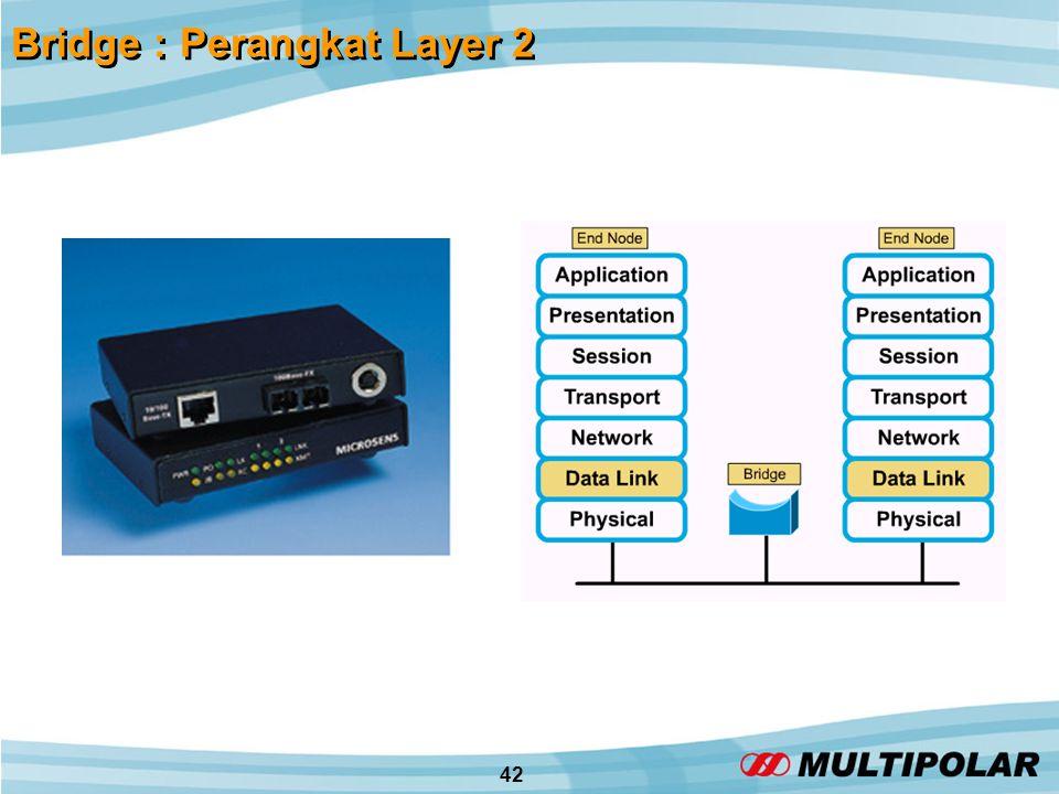 42 Bridge : Perangkat Layer 2