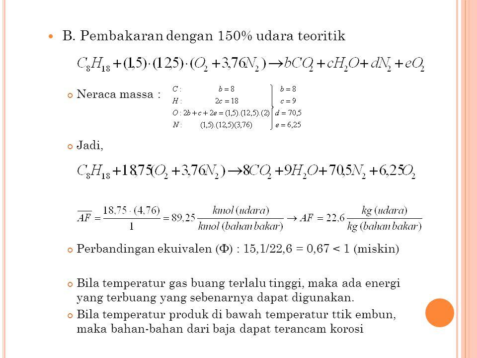 KONSERVASI ENERGI BAGI SISTEM YANG BEREAKSI Tingkat keadaan acuan standar untuk elemen stabil, dimana h = 0 :  T ref = 298,15 K (25 o C) = 537 R (77 o F)  P ref = 1 atm (berlaku untuk bentuk-bentuk stabil, contoh: O 2, H 2 O, dan N 2, bukan H, O atau N ) = entalpi pembentukan = entalpi senyawa ( compound ) pada tingkat keadaan standar/acuan= energi yang dikeluarkan atau diserap ketika senyawa tersebut terbentuk dari elemen-elemennya.