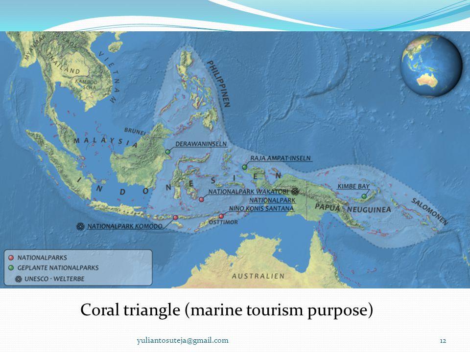 Coral triangle (marine tourism purpose) 12yuliantosuteja@gmail.com
