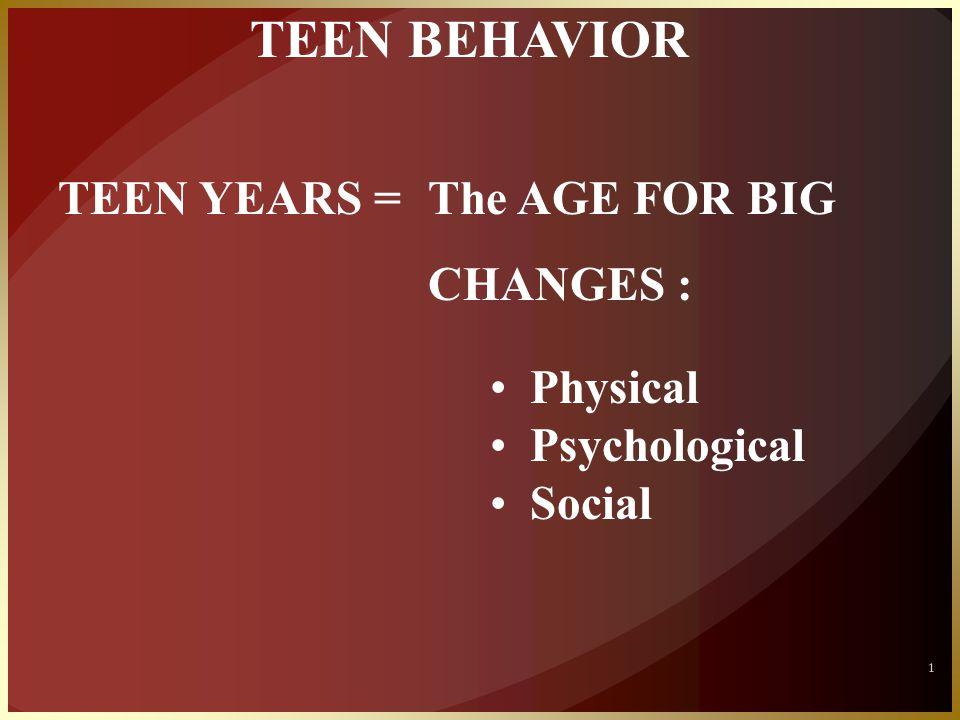 KEY TASK OF TEENS : ACHIEVING IDENTITY 2