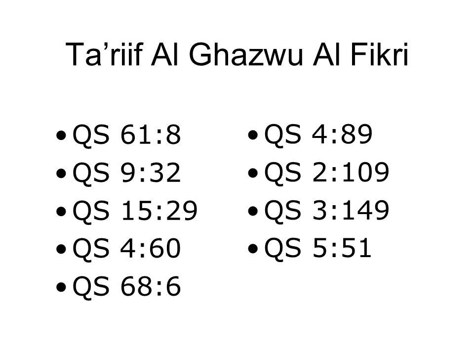 Ta'riif Al Ghazwu Al Fikri •QS 61:8 •QS 9:32 •QS 15:29 •QS 4:60 •QS 68:6 •QS 4:89 •QS 2:109 •QS 3:149 •QS 5:51