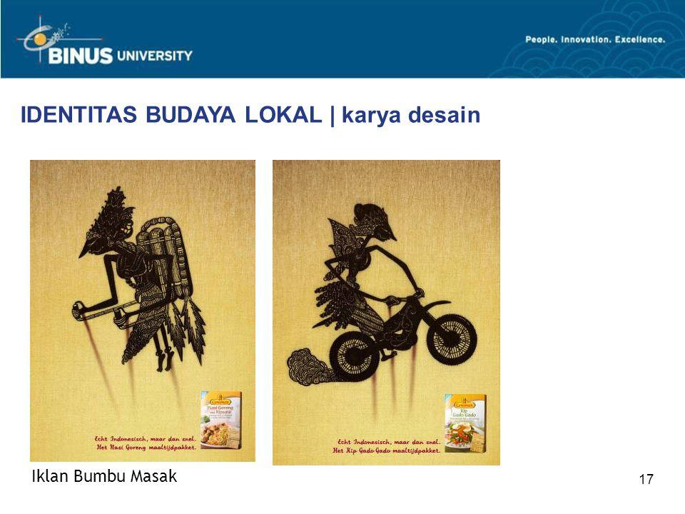 17 IDENTITAS BUDAYA LOKAL | karya desain Iklan Bumbu Masak