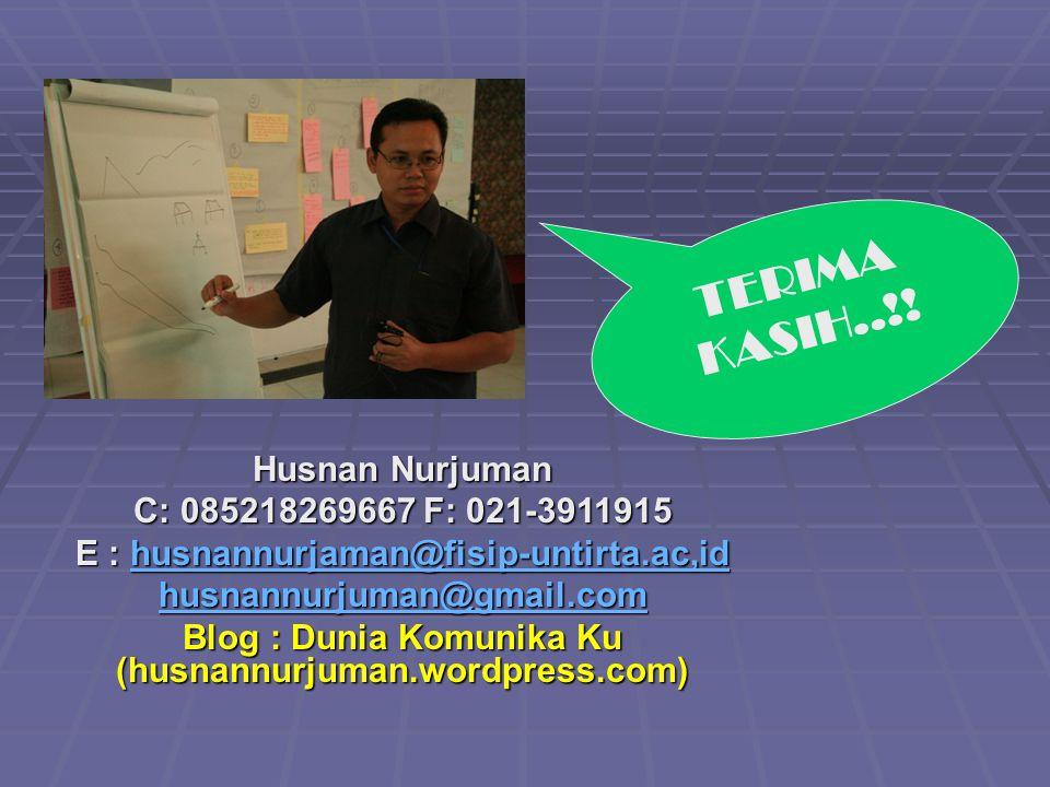 Husnan Nurjuman C: 085218269667 F: 021-3911915 E : husnannurjaman@fisip-untirta.ac,id husnannurjaman@fisip-untirta.ac,id husnannurjuman@gmail.com Blog