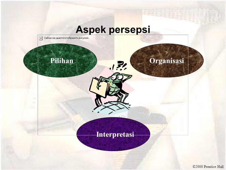 ©2000 Prentice Hall Aspek persepsi PilihanOrganisasi Interpretasi