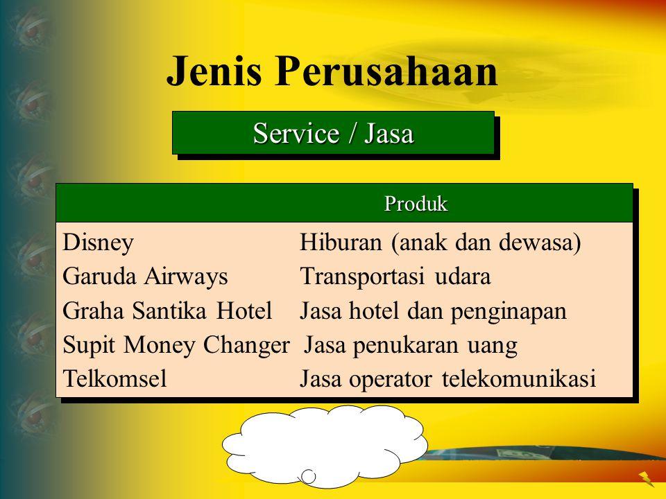 Service / Jasa Produk Produk DisneyHiburan (anak dan dewasa) Garuda AirwaysTransportasi udara Graha Santika HotelJasa hotel dan penginapan Supit Money