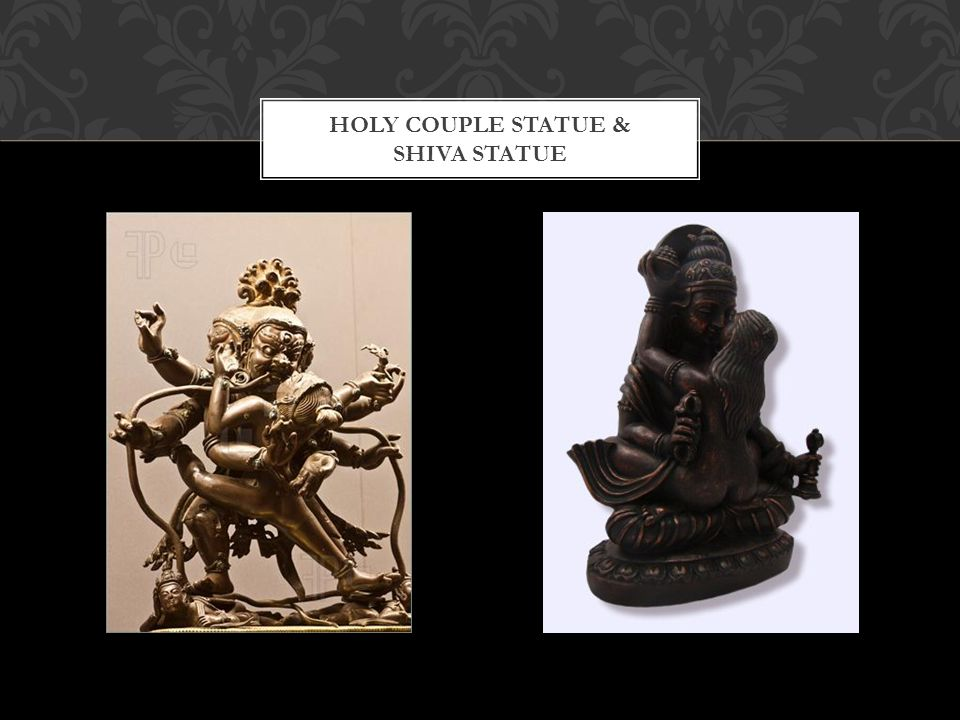 HOLY COUPLE STATUE & SHIVA STATUE
