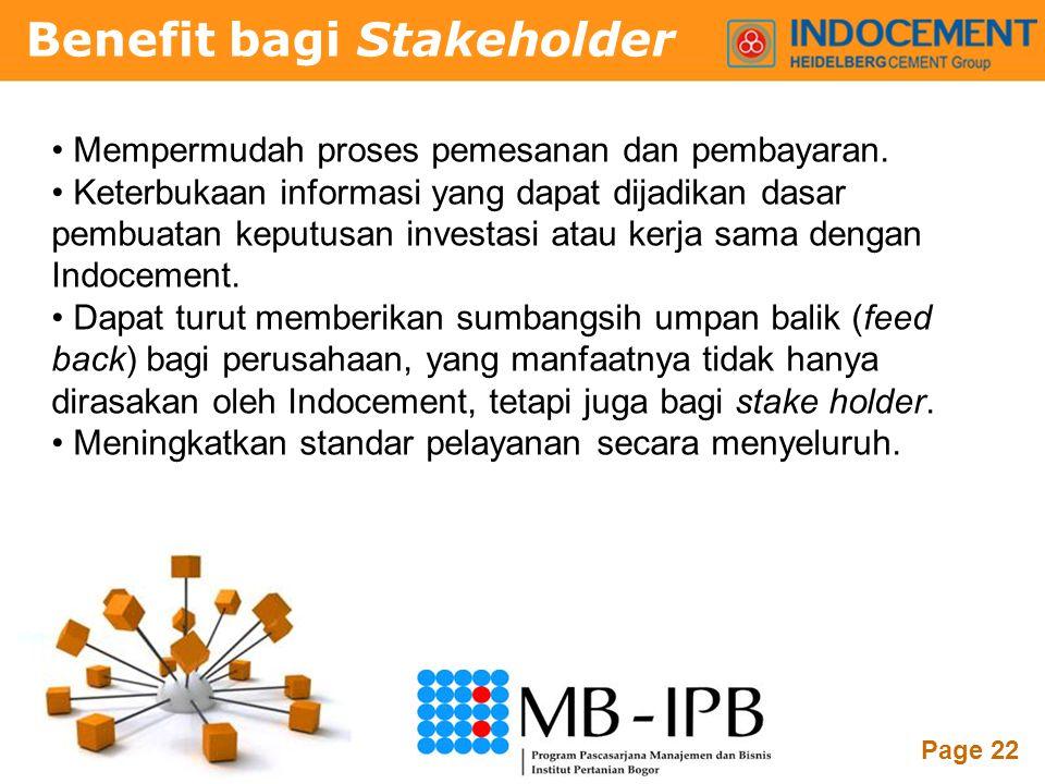 Powerpoint Templates Page 22 • Mempermudah proses pemesanan dan pembayaran. • Keterbukaan informasi yang dapat dijadikan dasar pembuatan keputusan inv