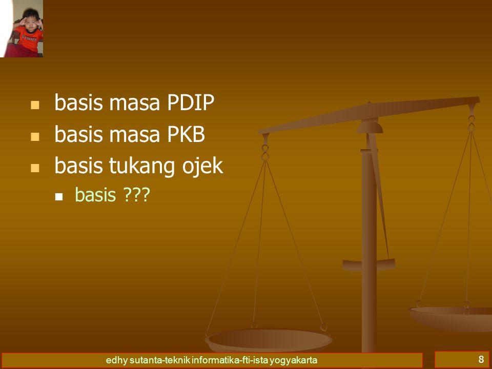 edhy sutanta-teknik informatika-fti-ista yogyakarta 8   basis masa PDIP   basis masa PKB   basis tukang ojek   basis ???