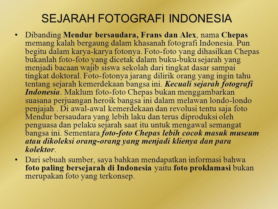 SEJARAH FOTOGRAFI INDONESIA BebeRapa karya Cephas