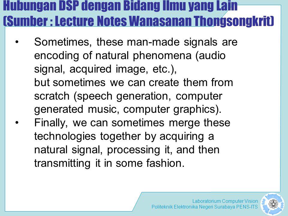 Laboratorium Computer Vision Politeknik Elektronika Negeri Surabaya PENS-ITS Fitur Tekstur (1)FFT (2)Wavelets (3)Image Filter (4)Filter Gabor Beberapa algoritma untuk mendapatkan fitur tekstur: