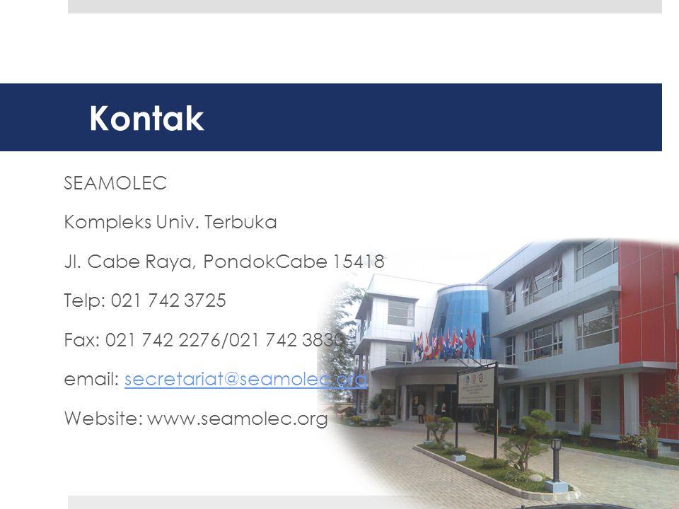 Kontak SEAMOLEC Kompleks Univ.Terbuka Jl.