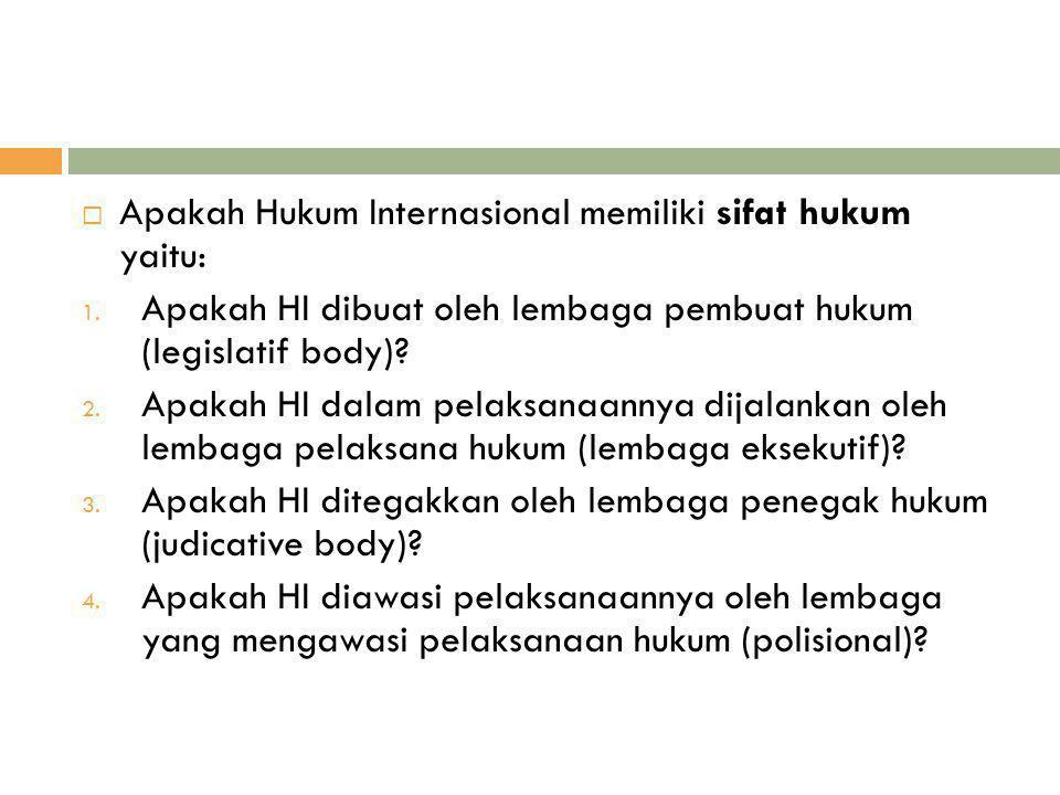  Romawi: Ius Gentium, Ius Inter Gentes  Indonesia: Hukum Antar Bangsa/Hk.