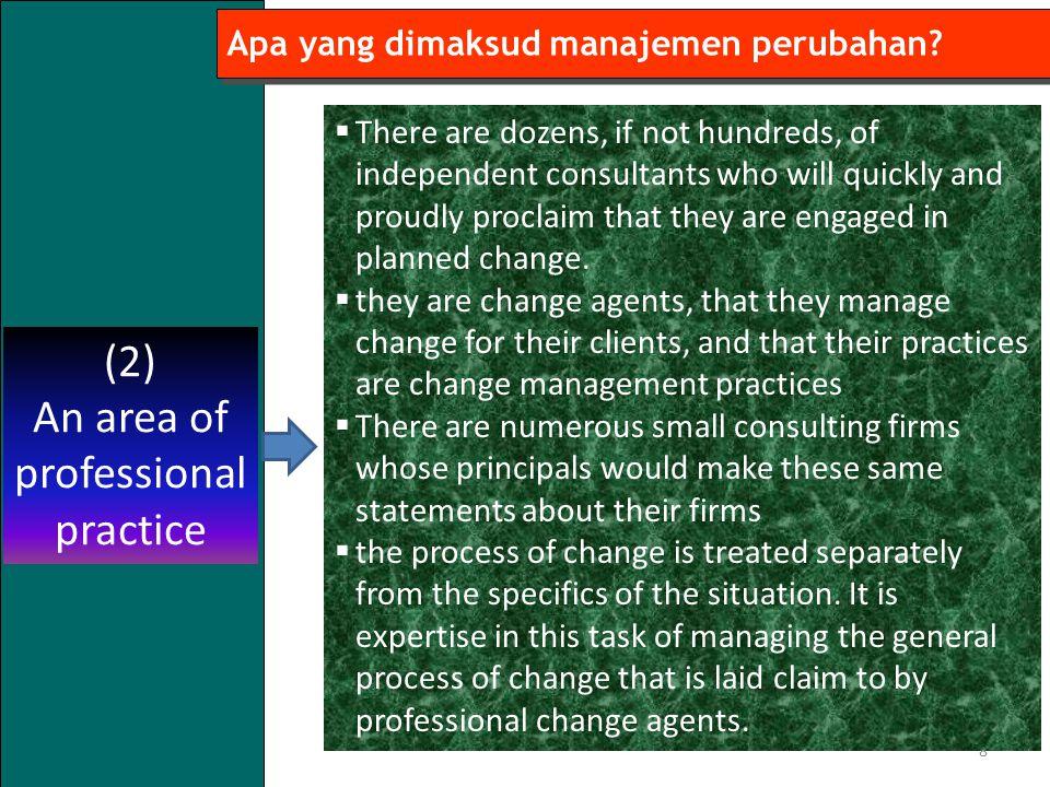 8 Apa yang dimaksud manajemen perubahan.