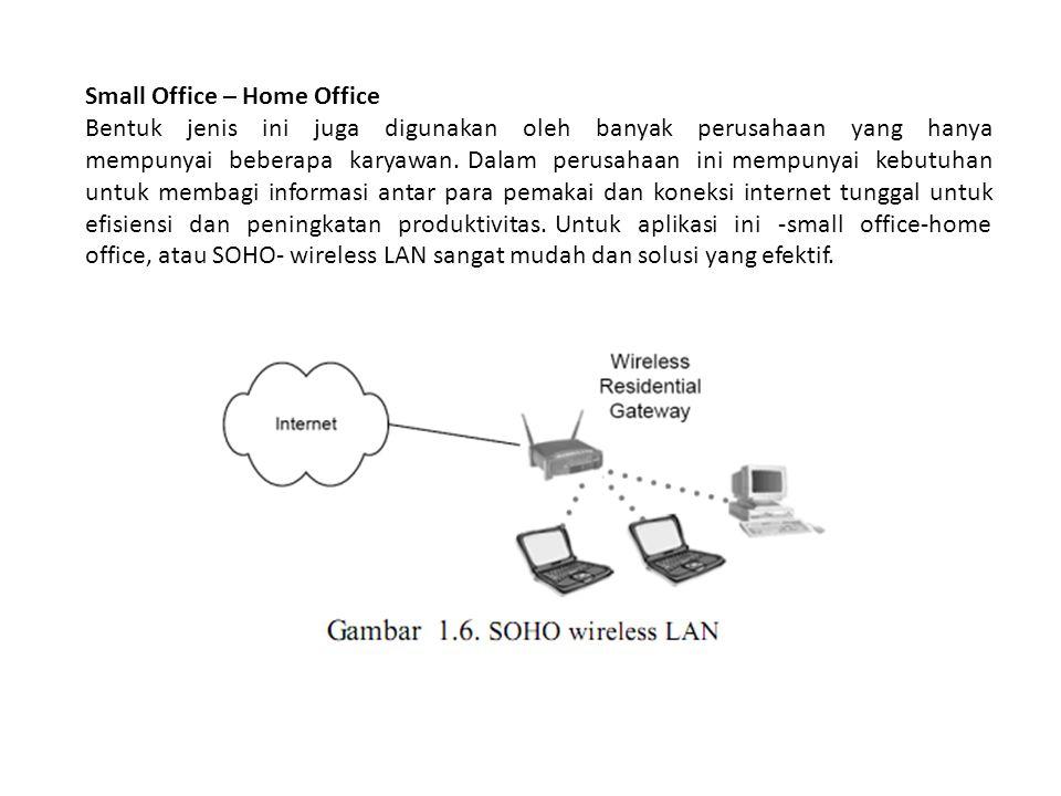 Small Office – Home Office Bentuk jenis ini juga digunakan oleh banyak perusahaan yang hanya mempunyai beberapa karyawan. Dalam perusahaan ini mempuny