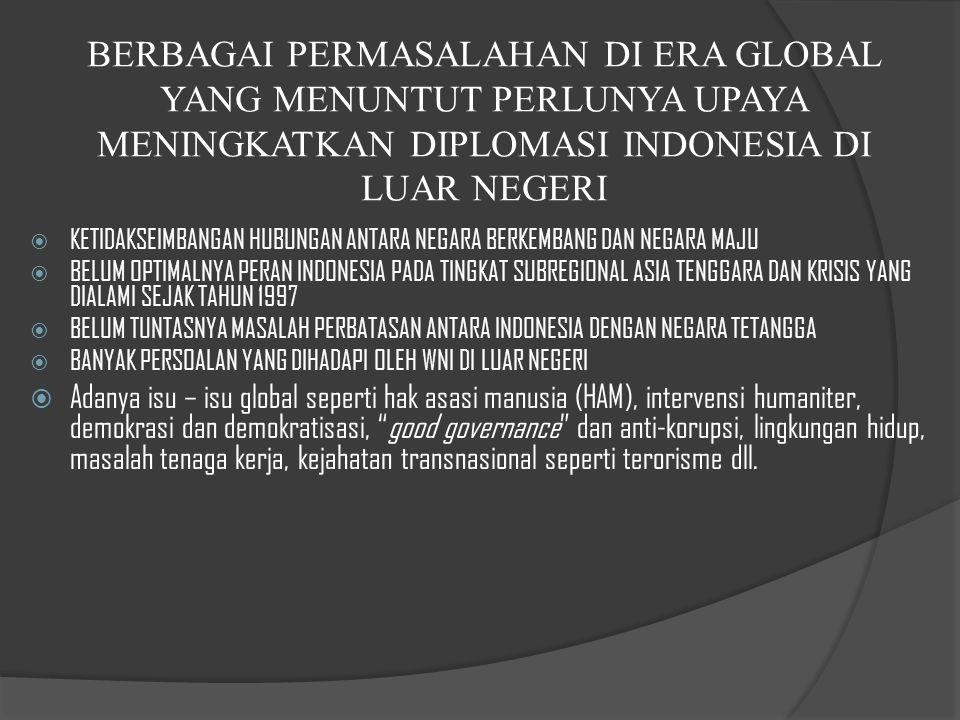 KEPENTINGAN NASIONAL DIRUMUSKAN DALAM PEMB.UUD 1945 ALINEA IV BBANGSA INDONESIA DIAMANATKAN UNTUK MEMBENTUK SUATU PEMERINTAHAN NEGARA INDONESIA YANG MENYELENGGARAKAN EMPAT FUNGSI : FUNGSI HANKAM, FUNGSI EKONOMI, FUNGSI SOSIAL BUDAYA DAN FUNGSI POLITIK