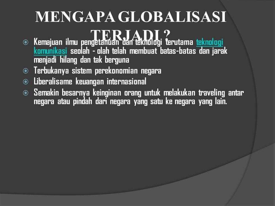  Antiglobalisasi adalah suatu istilah yang umum digunakan untuk memaparkan sikap politis orang-orang dan kelompok yang menentang perjanjian dagang global dan lembaga- lembaga yang mengatur perdagangan antar negara seperti Organisasi Perdagangan Dunia (WTO ).