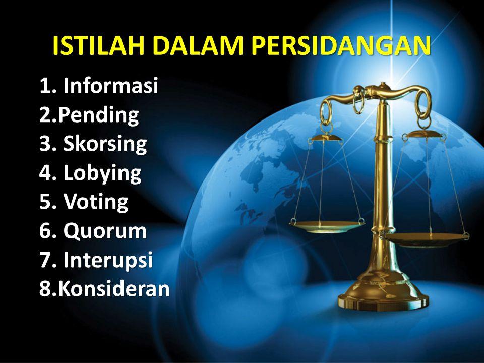 JENIS-JENIS SIDANG Sidang Pleno : Sidang Komisi : Komisi D Komisi C Komisi B Komisi A Pleno I Pleno II Pleno III