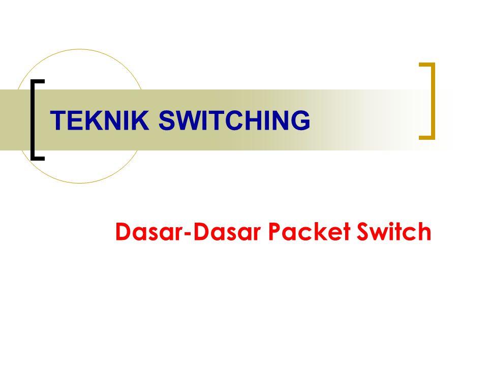 TEKNIK SWITCHING Dasar-Dasar Packet Switch