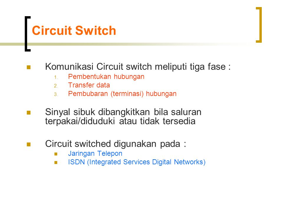 Switching Fabric  Banyan  Banyan switch fabric terdiri dari switch-switch elemen yang merutekan paket baik ke port 0 (upper output) atau port 1 (lower output) bergantung posisi khusus dalam label ruting  Switching elemen  bit header  Bit '1'  lower output  Bit '0'  upper output  Contoh : input 110  001, 011  111