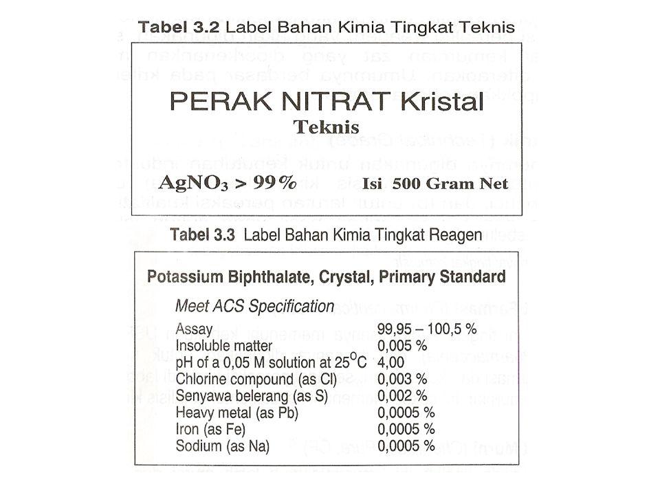 Contoh Pembuatan Larutan dari Zat kimia padatan  Pembuatan larutan 250 mL NaCl 0,1 M *Gunakan NaCl dengan spesifikasi teknis atau farmasi  terapkan Mr (Mr NaCl = 58,5 g/mol) *Perhitungan massa NaCl = (0,25 L)(0,1M) = 0,025 mol = (0,025)(58,5) g = 1,5 g * Pelaksanaan : a.