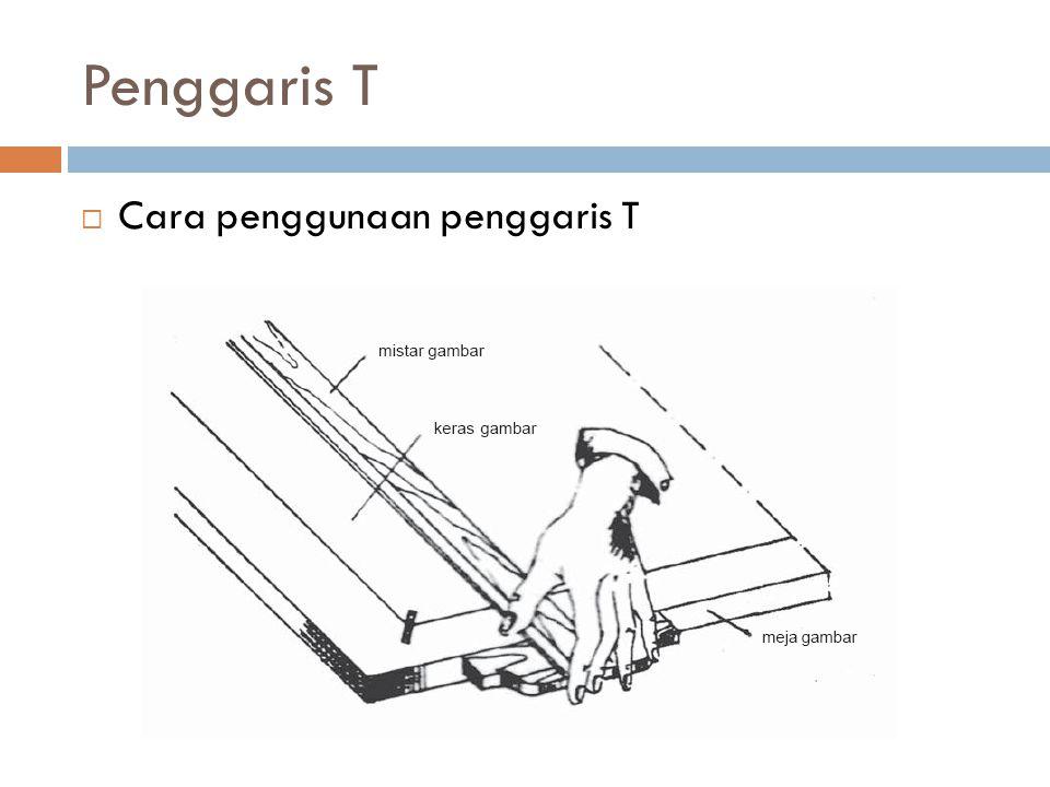 Penggaris T  Cara penggunaan penggaris T