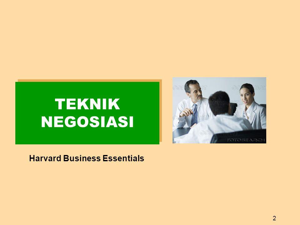2 TEKNIK NEGOSIASI Harvard Business Essentials