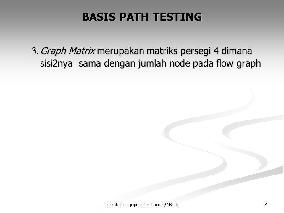 8Teknik Pengujian Per.Lunak@Berta BASIS PATH TESTING 3.