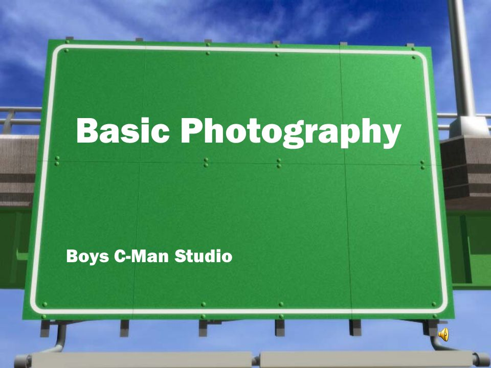 Basic Photography Boys C-Man Studio