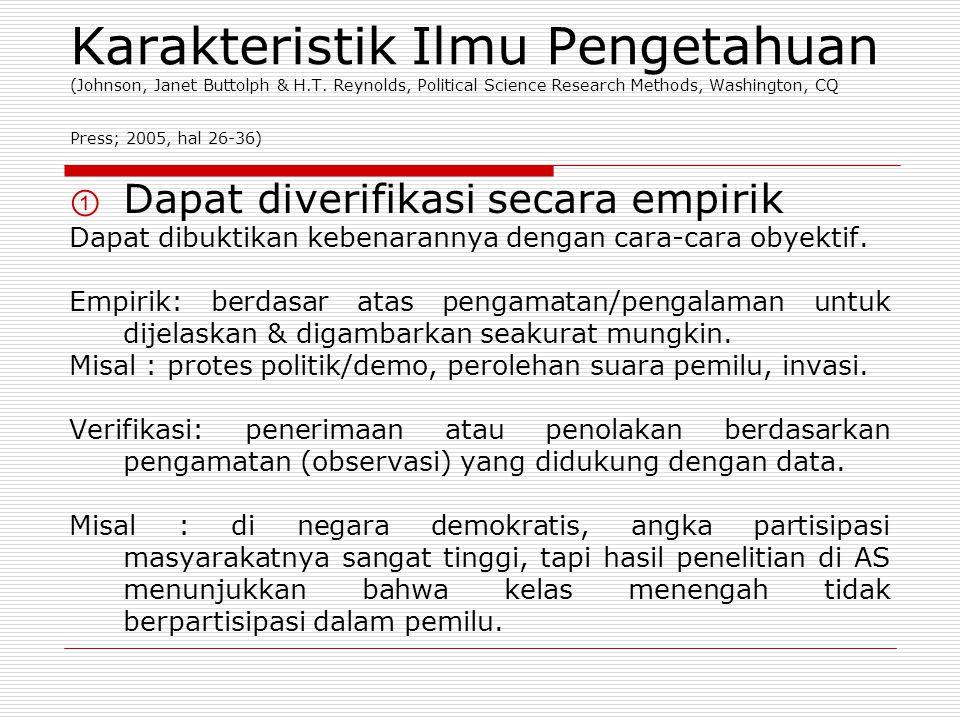 Karakteristik Ilmu Pengetahuan ② Berbeda lingkup & kegunaannya.