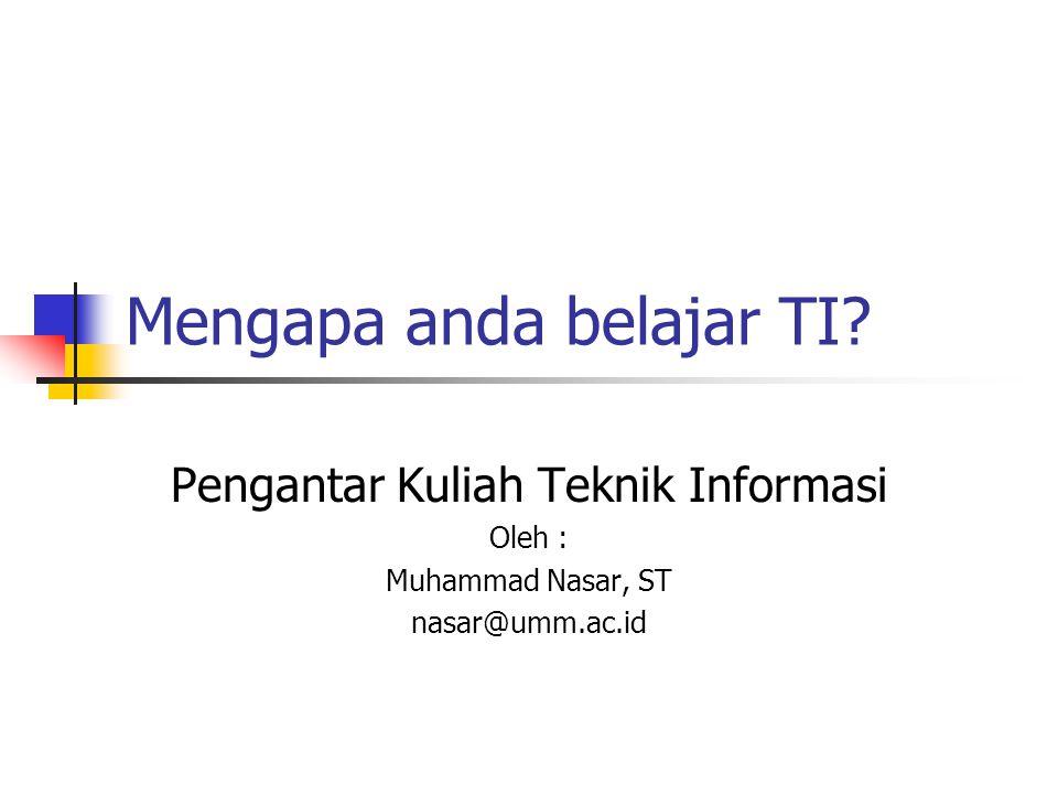 Prospek industri TI  Target TI Deperindag : Kontribusi Industri TI terhadap pendapatan Indonesia melalui ekspor di tahun 2010 ditargetkan mencapai US$ 30 milyar.