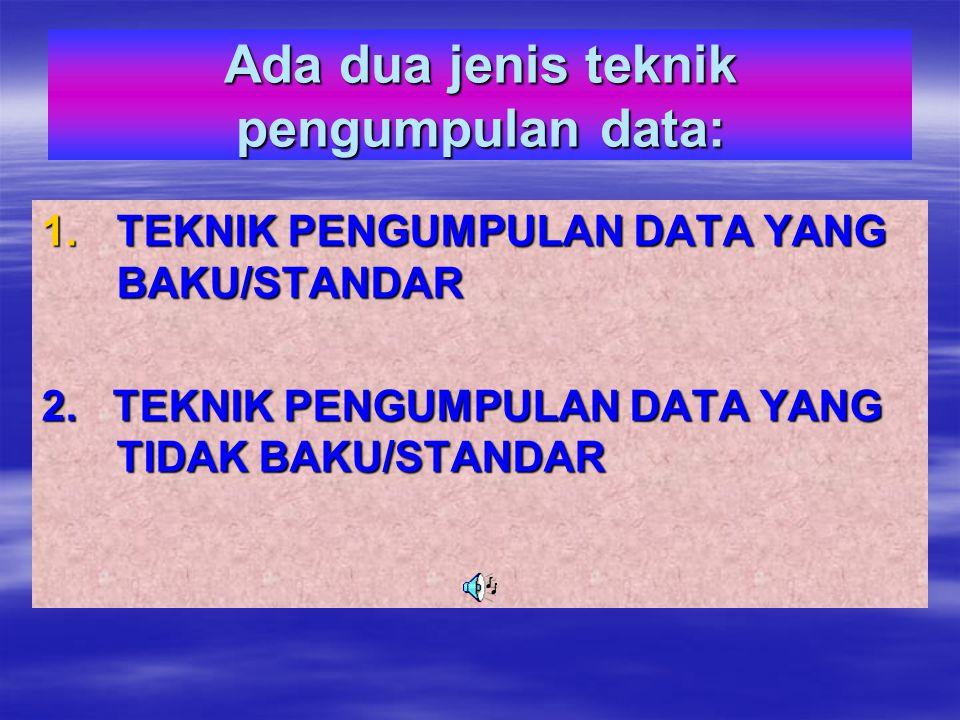 TEKNIK PENGUMPULAN DATA PENELITIAN KUANTITATIF