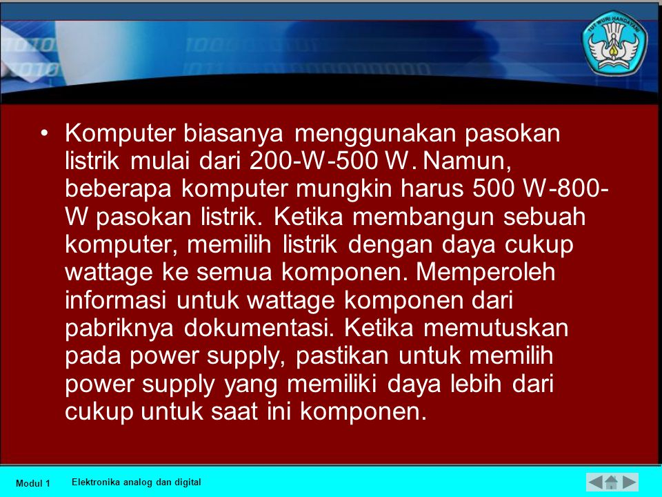 Beberapa hal yang perlu diperhatikan •P = 100 W V = 9 V I= 100 W / 9 V = 11/11 A Apa yang terjadi jika baterai V-12 dan 12-V dop digunakan untuk menda