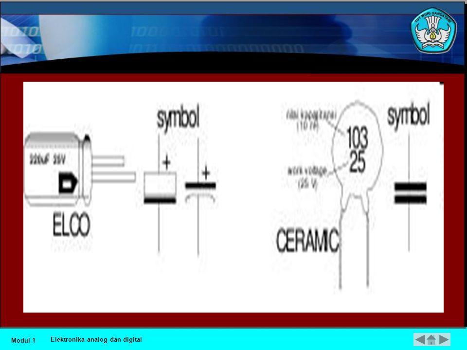 •Kapasitor (Kondensator) •Kapasitor dapat menyimpan muatan listrik, dapat meneruskan tegangan bolak balik (AC) akan tetapi menahan tegangan DC, besaran ukuran kekuatannya dinyatakan dalam FARAD (F).