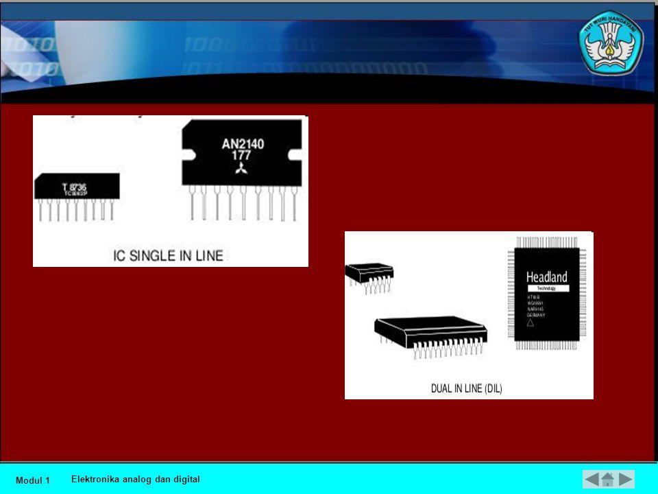 •Integrated Circuit Integrated Circuit (IC) sebenarnya adalah suatu rangkaian elektronik yang dikemas menjadi satu kemasan yang kecil.