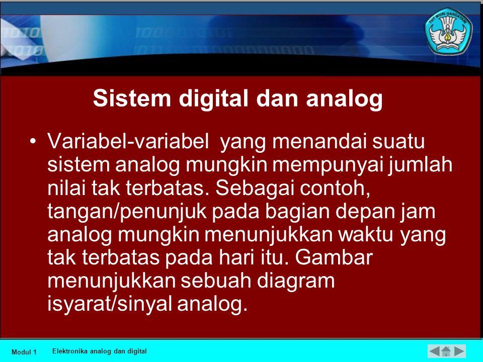 Mengenal konsep Elektronika analog dan digital Elektronika analog dan digital HOME