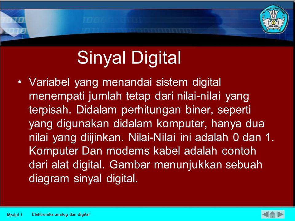 Sinyal analog Modul 1 Elektronika analog dan digital