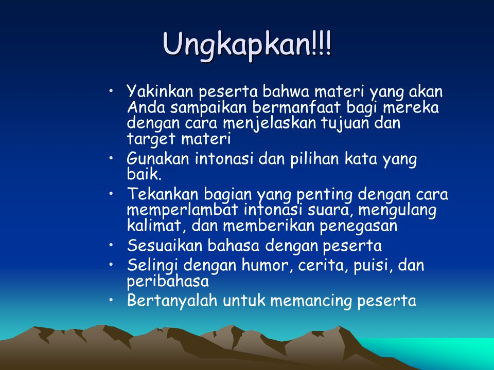 Training for Trainers Sessi 07 Teknik Presentasi Efektif